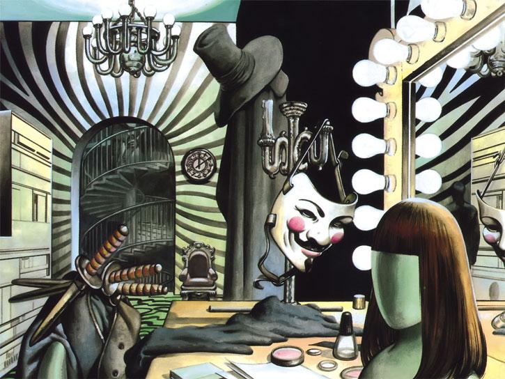 V for Vendetta - Moore Comics - V's equipment and costume