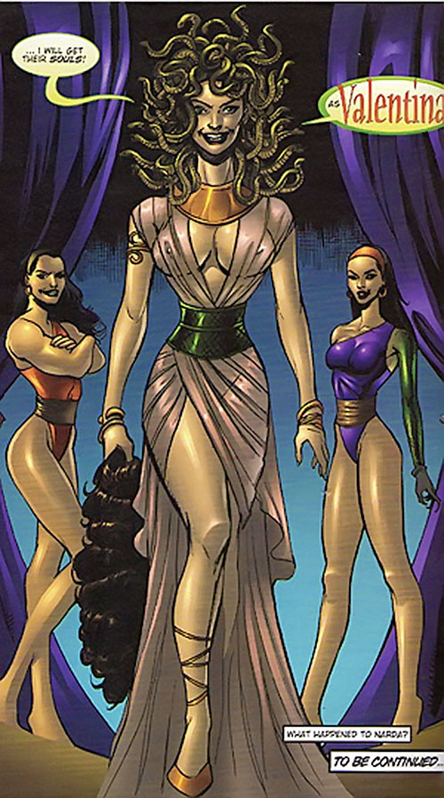 Valentina the Serpent Queen (Darna enemy) and her girls
