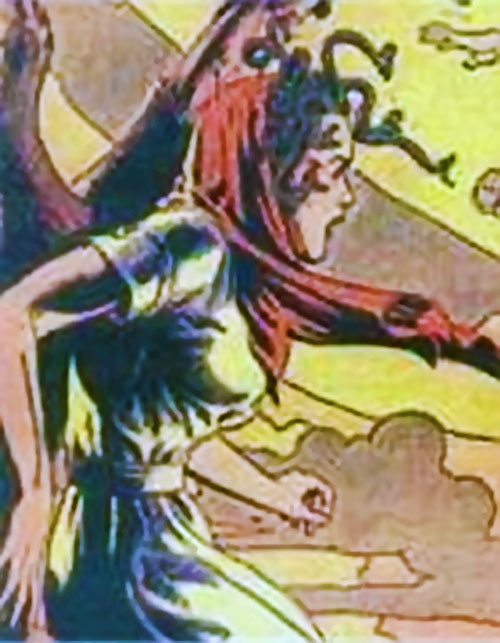 Valentina the Serpent Queen (Darna enemy) in a vintage white dress