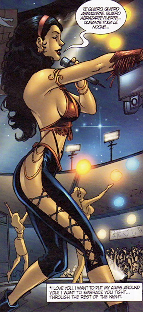 Valentina the Serpent Queen (Darna enemy) as the singer Amor