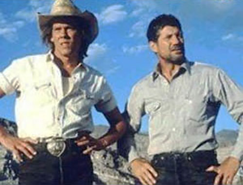 Valentine and Earl (Kevin Bacon and Fred Ward in Tremors movies)