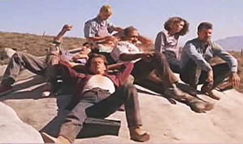Valentine and Earl (Kevin Bacon and Fred Ward in Tremors movies) relaxing