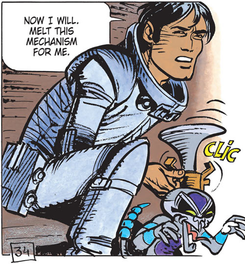 Valerian (and Laureline graphic novels) with a schniarfer