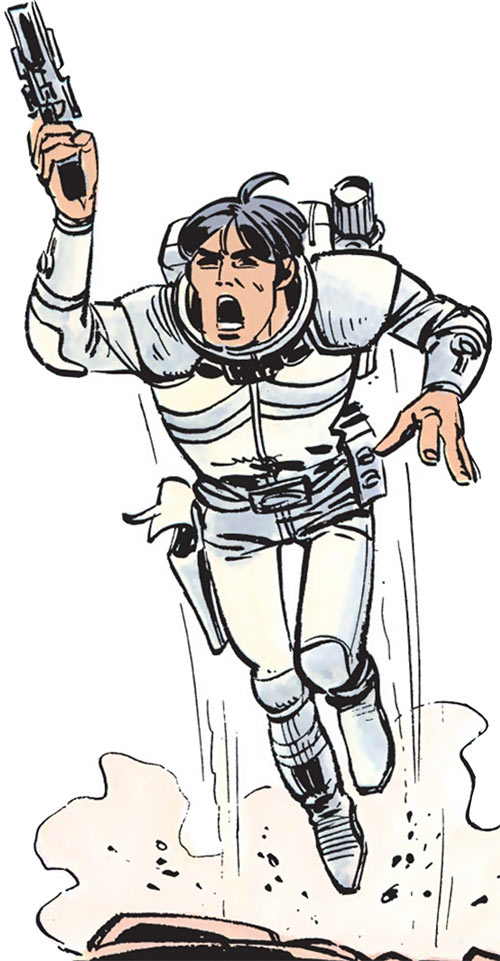Valerian (and Laureline graphic novels) jetpack and pistol
