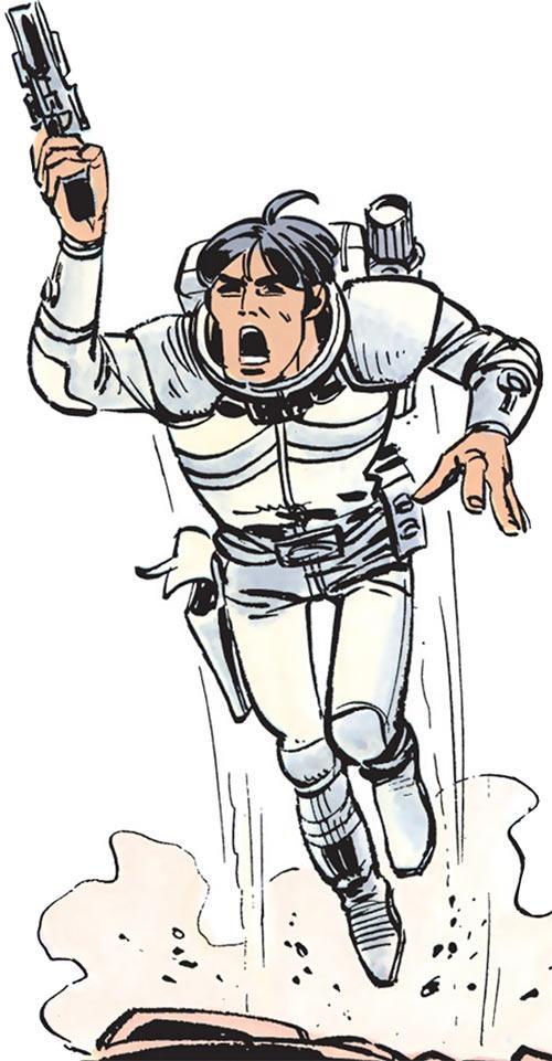 Valerian (and Laureline graphic novels) jetpack and pistol