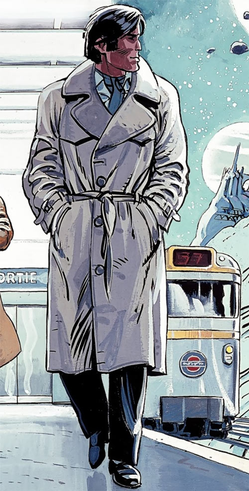 Valerian (and Laureline graphic novels) 1980s trench coat