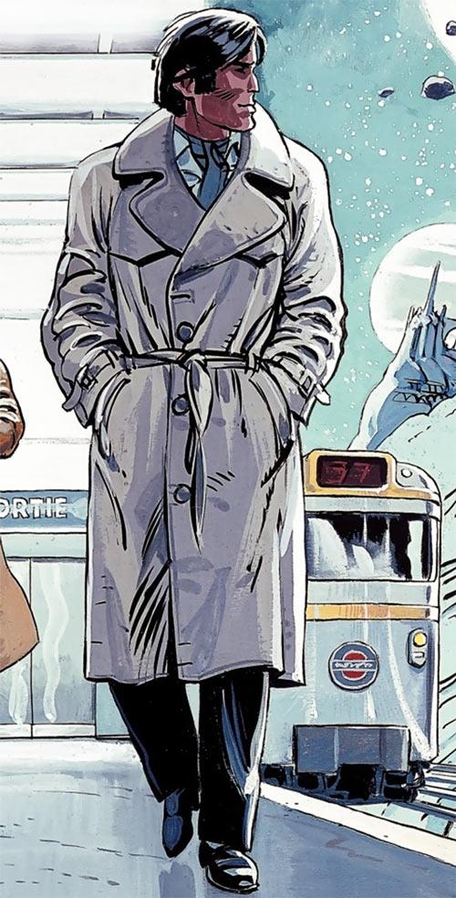 Valerian (and Laureline graphic novels) 1980s trench coat