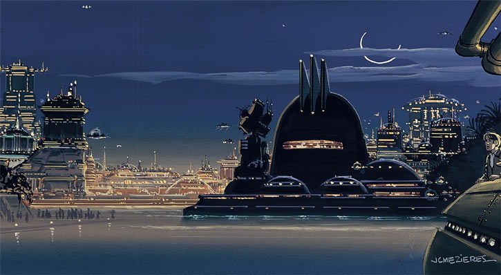 Valerian (and Laureline graphic novels) Galaxity water plaza