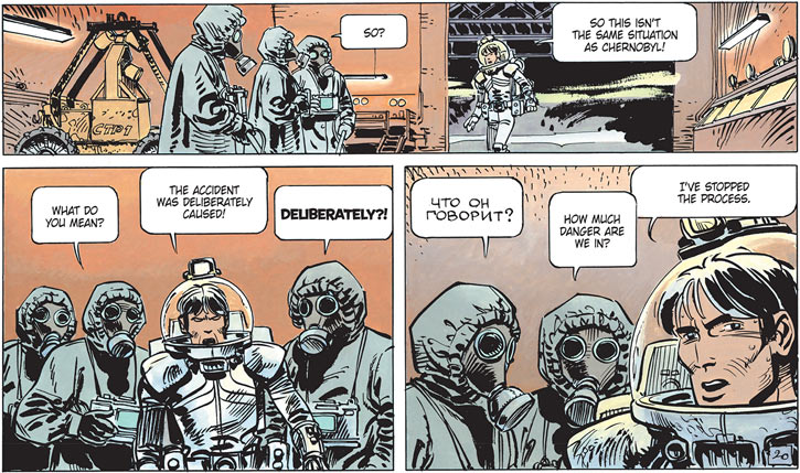 Valerian (and Laureline graphic novels) in a Russian nuclear reactor