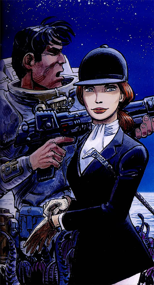 Valerian and Laureline (plot/story article) Inverloch original cover horse-riding outfit