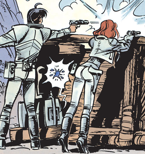 Valerian and Laureline (plot/story article) shooting from cover