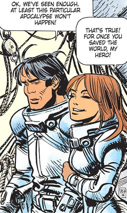 Valerian and Laureline (plot/story article) smiling