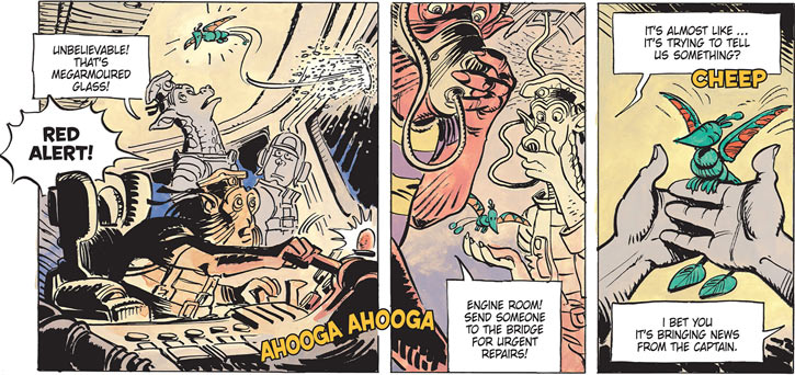Valerian & Laureline - Useful alien animals - Tshung poking through armor