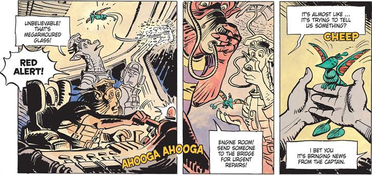 Valerian & Laureline - Useful alien animals - Tshung poking through armor