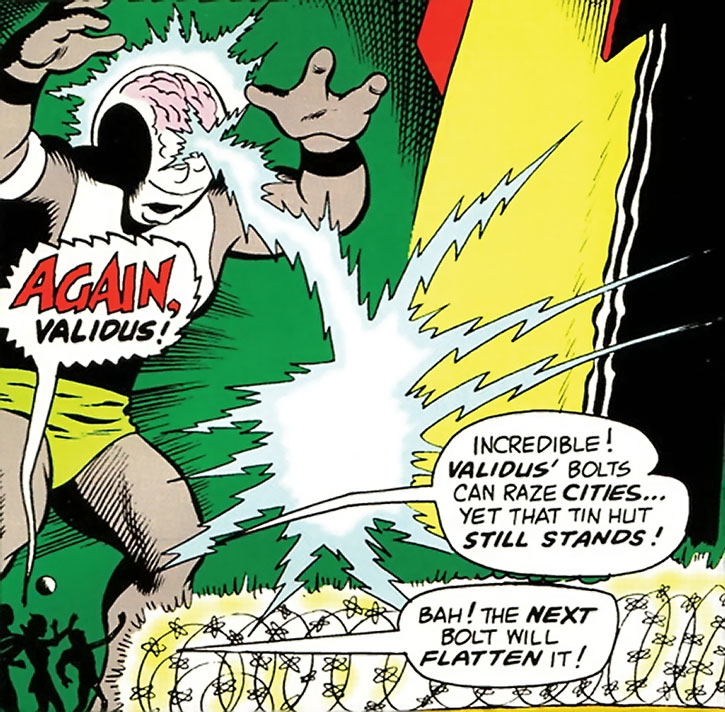 Validus pounding on the Legion of Super-Heroes HQ