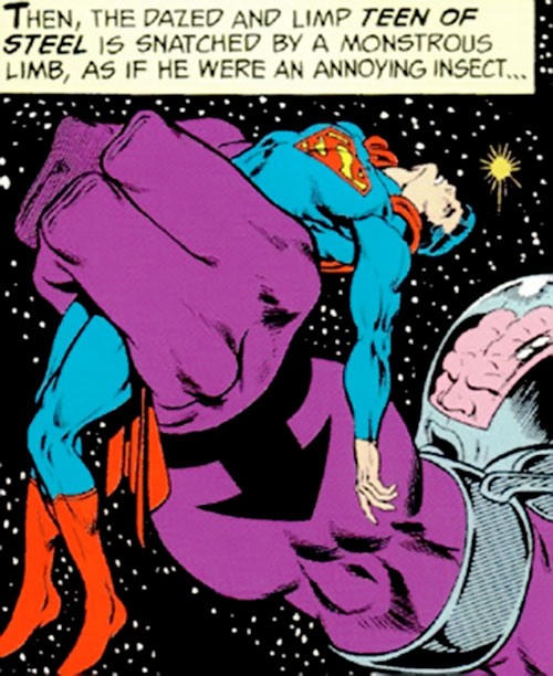 Validus of the Fatal Five (Legion of Super-Heroes enemy) (pre-boot DC Comics) vs. Superboy
