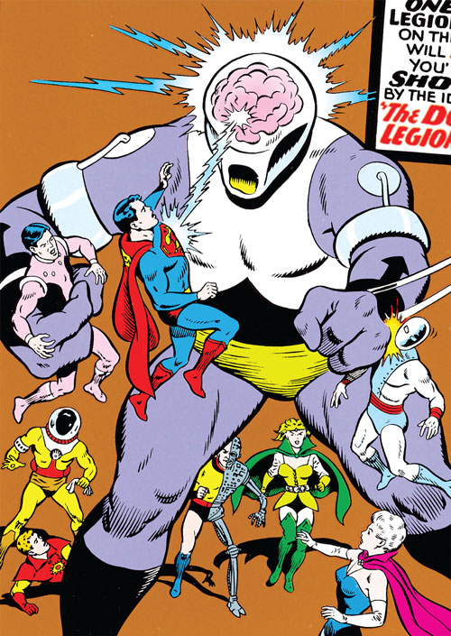 Validus and the Fatal Five vs. the Legion of Super-Heroes (pre-boot DC Comics)