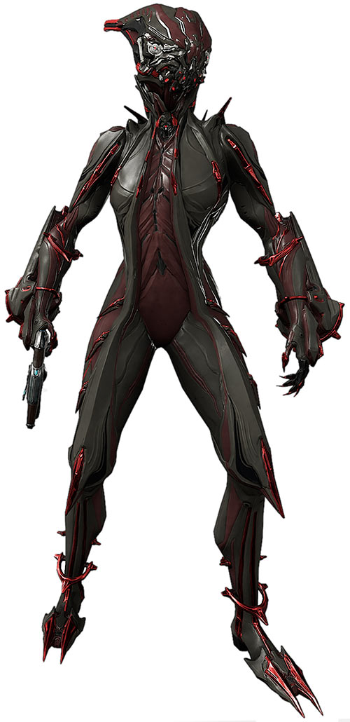 Valkyr prime warframe full view