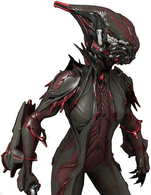 Valkyr prime warframe close view