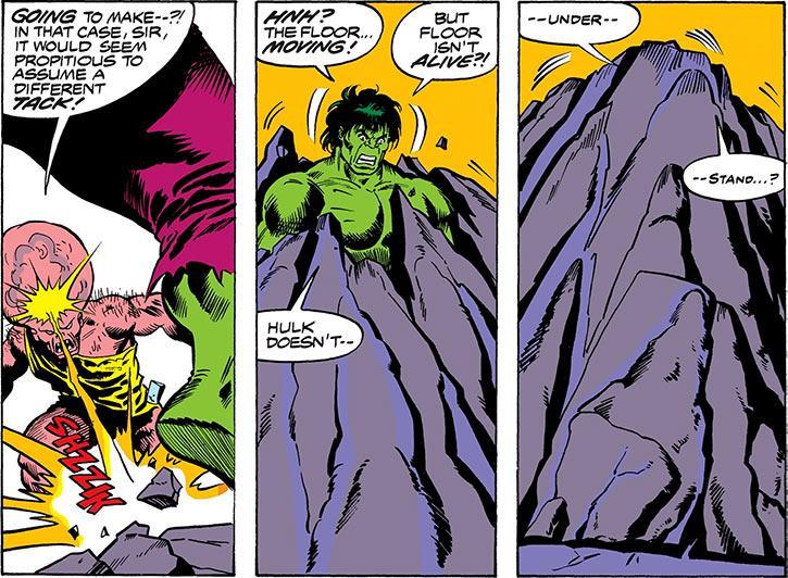 Vamp / Animus (Marvel Comics) (Captain America character) telekinesis encasing the Hulk