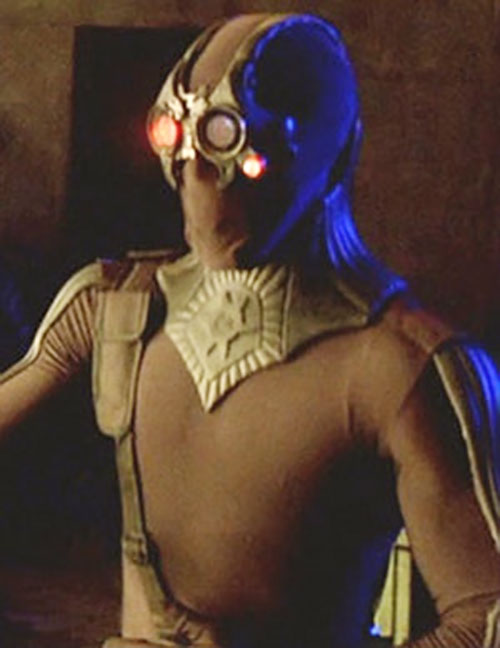 Vampire in tight costume in the Blade movies