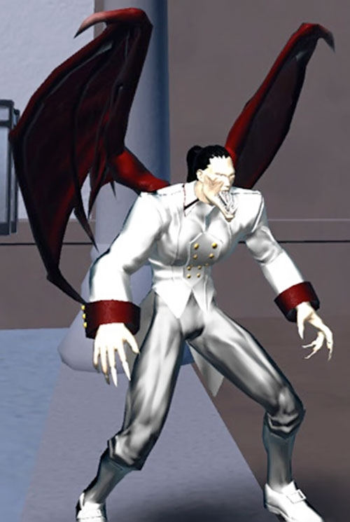 Vampyre (DC Heroes RPG) in white with extended jaw