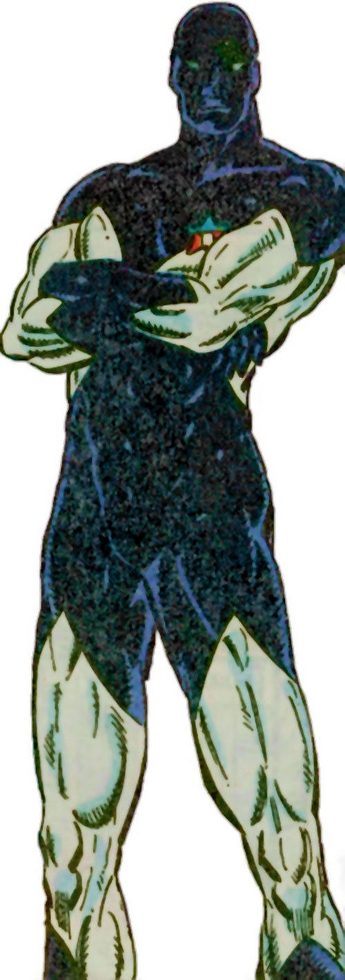 Vance Astro aka Major Victory of the Guardians of the Galaxy (Marvel Comics) in the white and dark blue suit