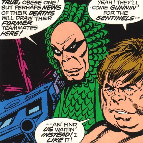Vanisher (X-Men enemy) (Marvel Comics) and the Blob
