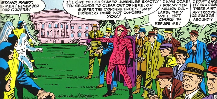 The Vanisher leads a small army of criminals against the X-Men at the White House