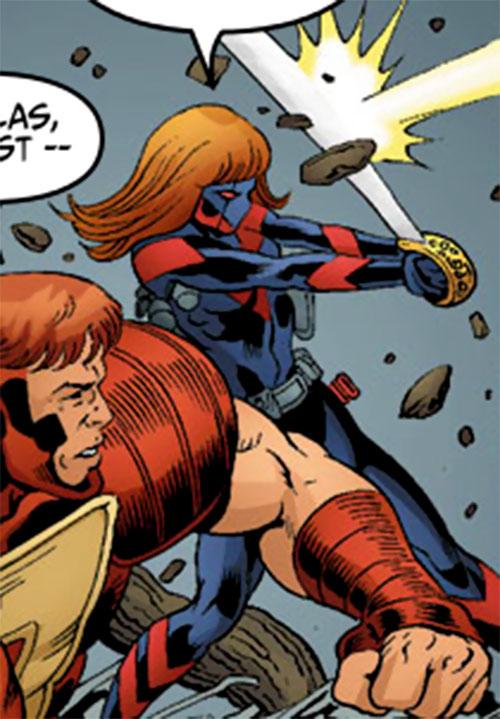 Vantage (Dallas Riordan) (Thunderbolts) (Marvel Comics) and Atlas
