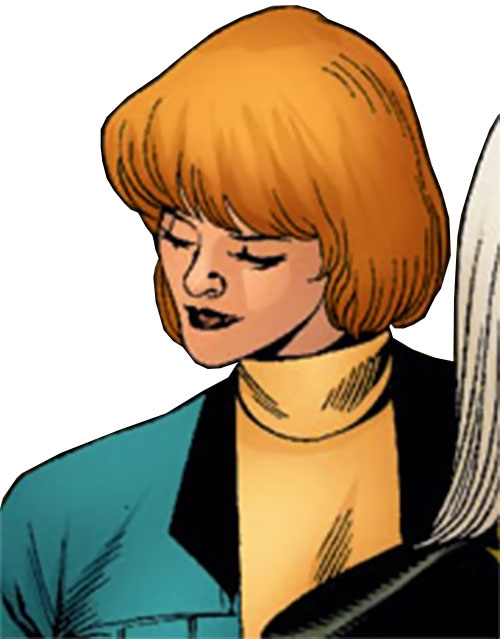 Vantage (Dallas Riordan) (Thunderbolts) (Marvel Comics) in a yellow turtleneck