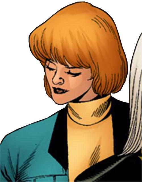 Vantage (Dallas Riordan) (Thunderbolts) (Marvel Comics) in a yellow turtleneck
