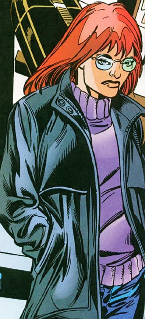 Vantage (Dallas Riordan) (Thunderbolts) (Marvel Comics) with a leather jacket