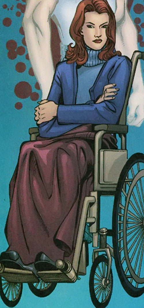 Vantage (Dallas Riordan) (Thunderbolts) (Marvel Comics) in a wheelchair