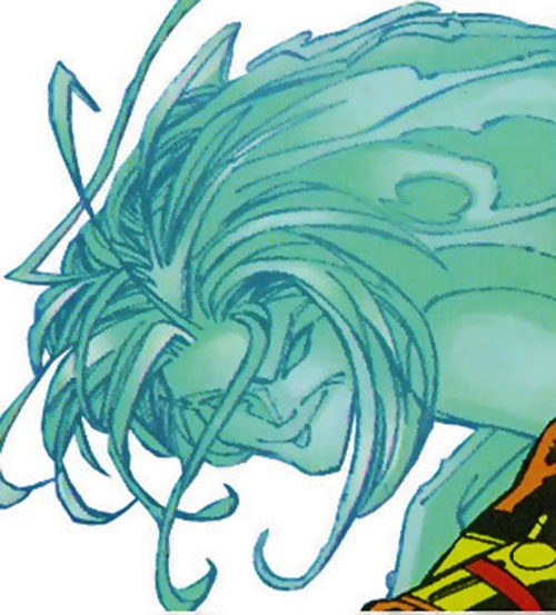 Vapor of the U-Foes (Hulk enemy) (Marvel Comics) face closeup