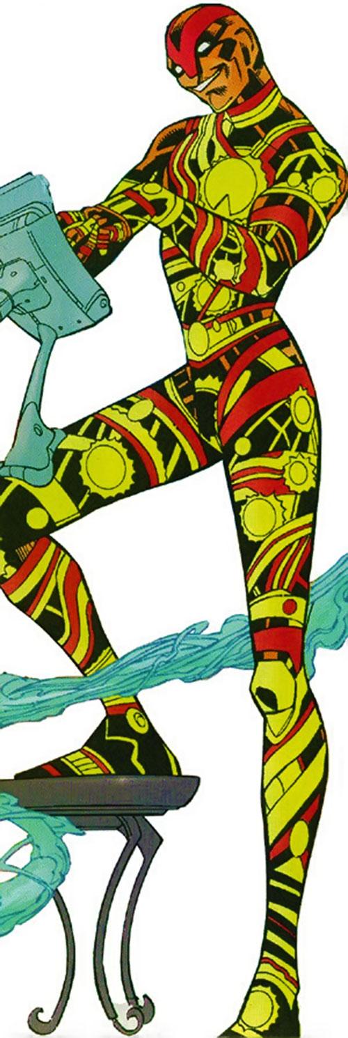 Vector of the U-Foes (Hulk enemy) (Marvel Comics) using a computer