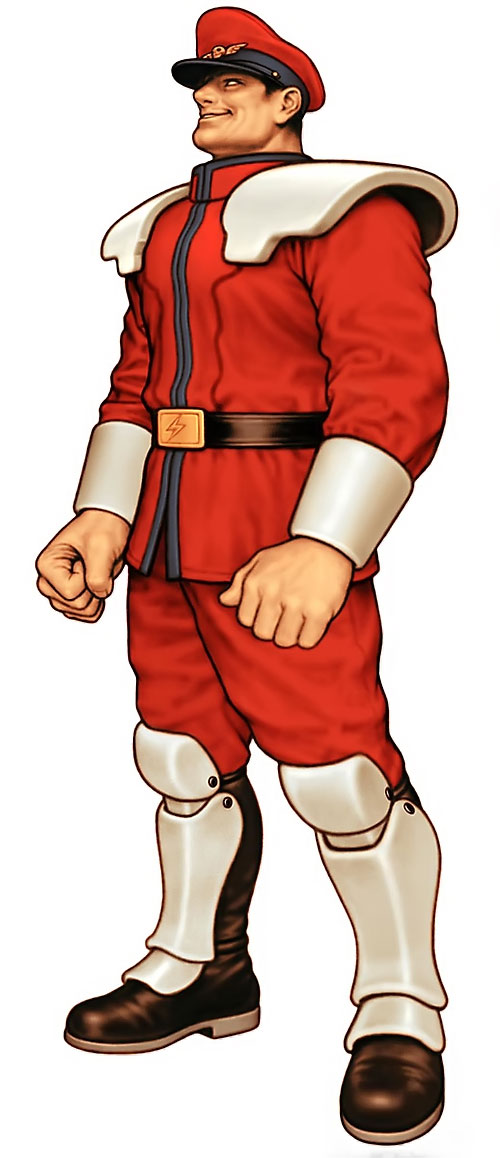 Vega from Street Fighter video games smiling