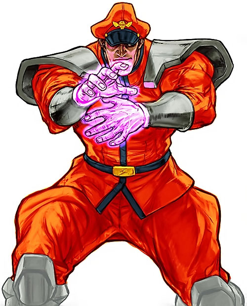 Vega from Street Fighter video games with hands glowing