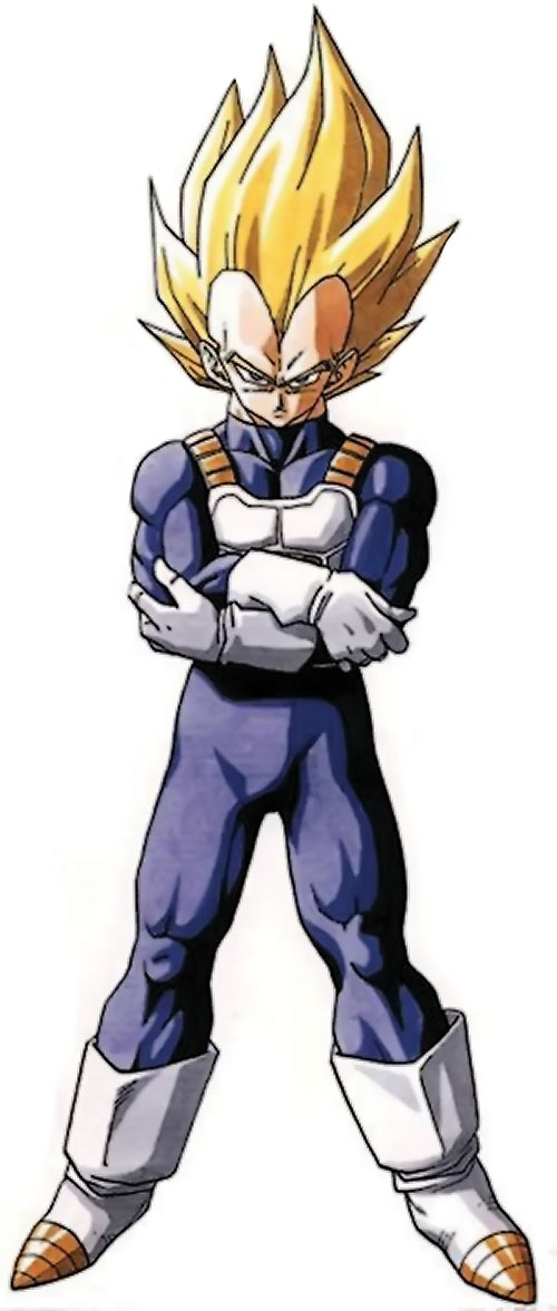 Vegeta from Dragon Ball - royal blue jumpsuit and white accessories