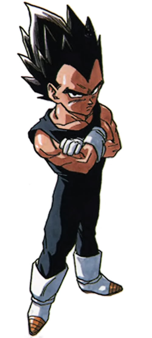 Vegeta from Dragon Ball in black