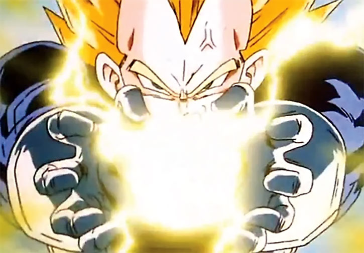 Vegeta building up an energy charge