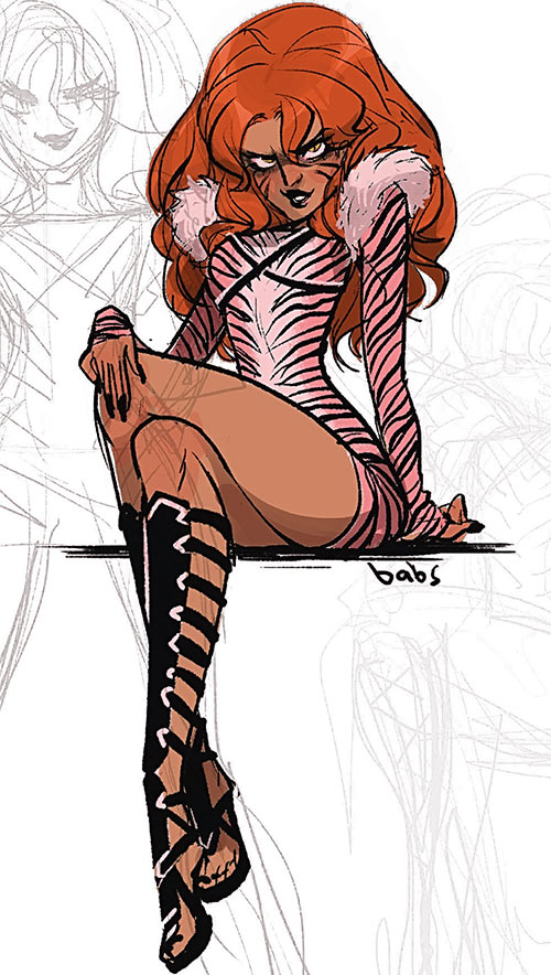 Velvet Tiger (Batgirl of Burnside enemy) (DC Comics) character study by Babs Tarr