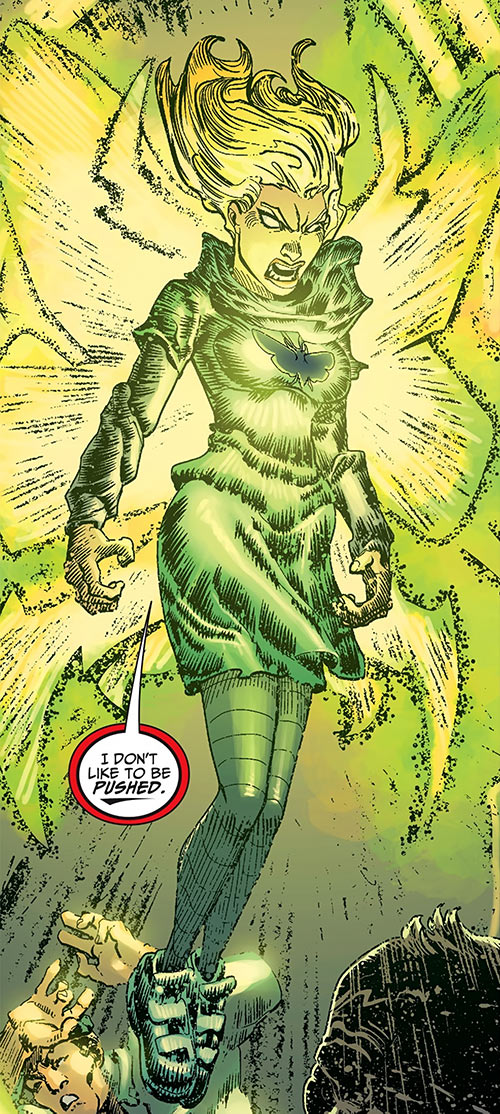 Vengeance Moth (DC Comics) (The Movement) using her powers