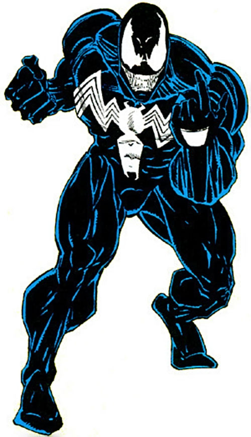Venom (Spider-Man enemy) (Marvel Comics) doing a come hither gesture
