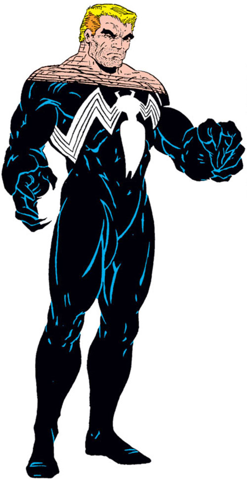 Venom (Spider-Man enemy) (Marvel Comics) with his mask off