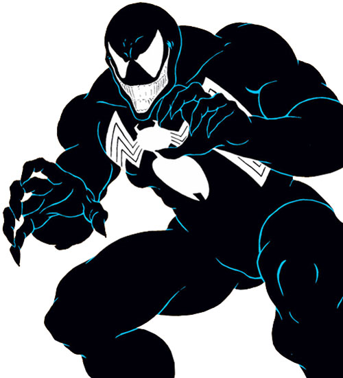 Venom (Spider-Man enemy) (Marvel Comics) grinning