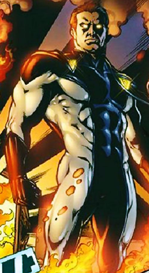 Venture (Image Comics) standing in flames