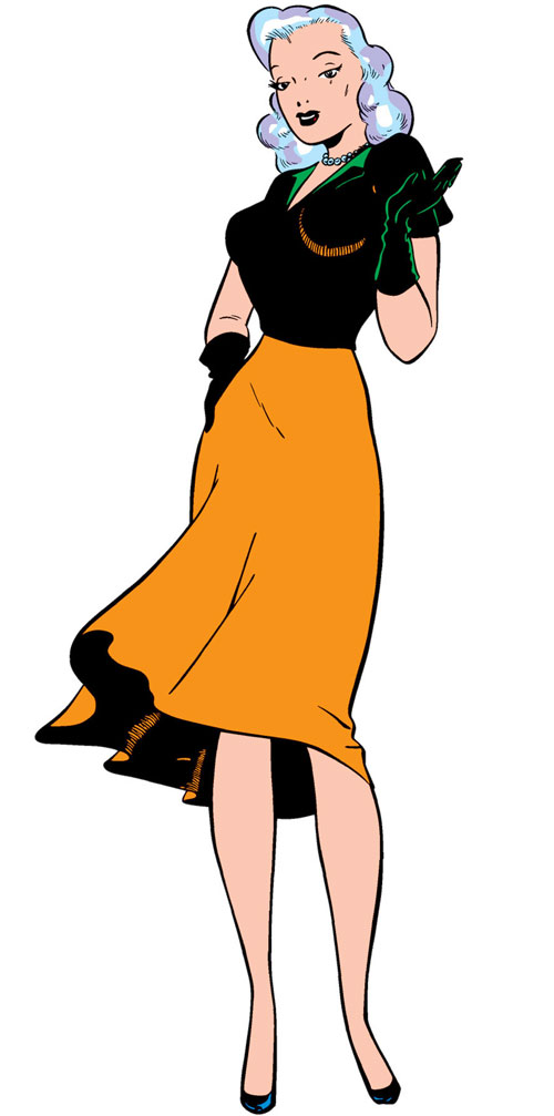 Venus (Atlas / Marvel Comics) in cool 1940s women's clothes