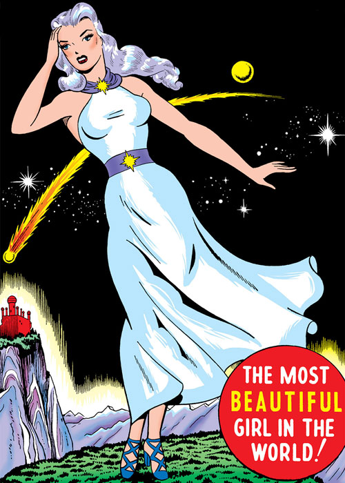 Venus (1950s vintage Atlas Comics) in her white dress