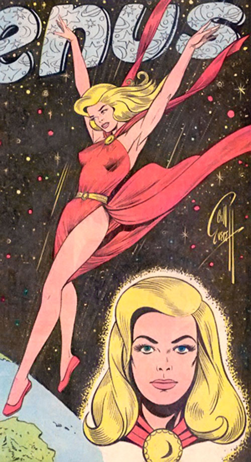Venus (1950s vintage Atlas Comics) splash page by Bill Everett